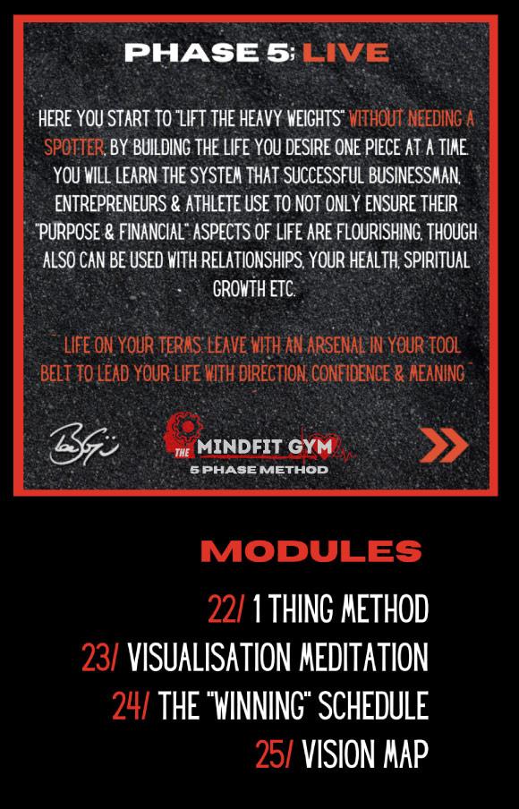mindfit gym phase 5 live