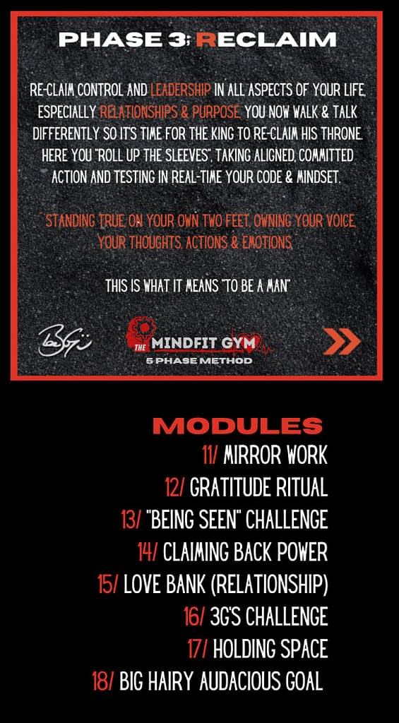 mindfit gym phase 3 reclaim