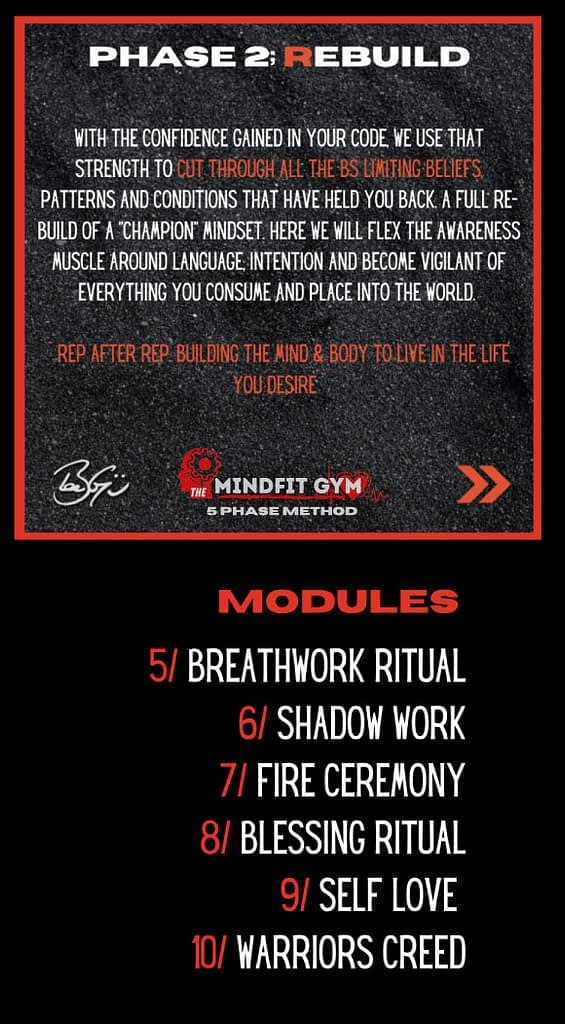 mindfit gym phase 2 rebuild